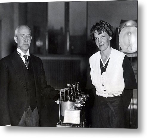 classic Metal Print featuring the photograph Amelia Earhart by Retro Images Archive