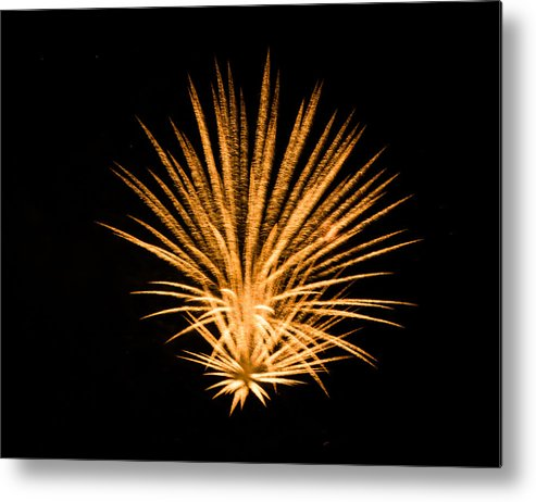 Fireworks Metal Print featuring the photograph Fireworks by Cathy Donohoue