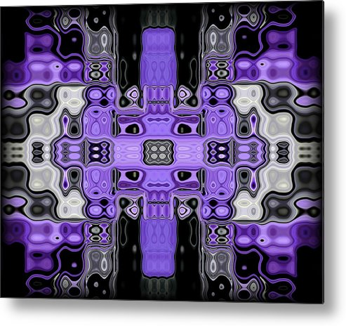 Original Metal Print featuring the painting Motility Series 1 by J D Owen