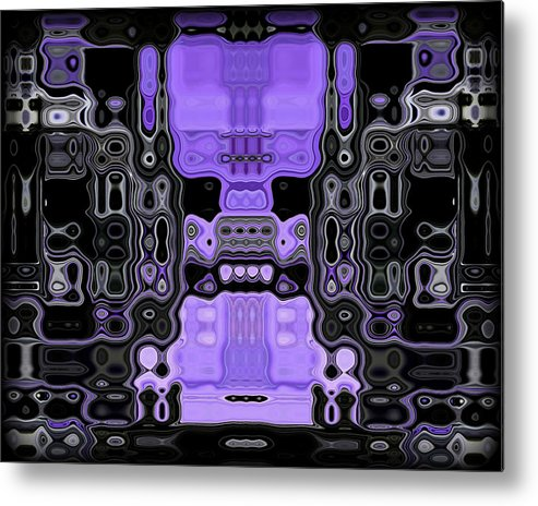 Original Metal Print featuring the painting Motility Series 3 by J D Owen