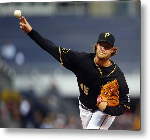 American League Baseball Metal Print featuring the photograph Toronto Blue Jays V Pittsburgh Pirates 3 by Matt Sullivan