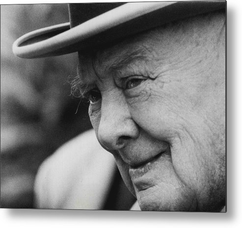 classic Metal Print featuring the photograph Winston Churchill by Retro Images Archive