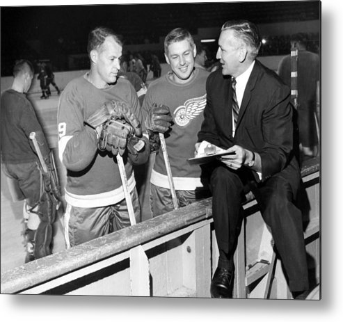 classic Metal Print featuring the photograph Gordie Howe by Retro Images Archive