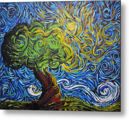 Tree Metal Print featuring the painting A Kiss Of Sun by Stefan Duncan