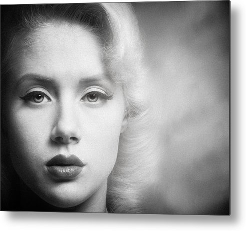 Portrait Metal Print featuring the photograph a place in time Mosh by Gary Heller