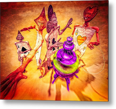 Surreal Metal Print featuring the digital art Aces High by Bob Orsillo