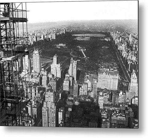1933 Metal Print featuring the photograph Aerial View Of Central Park by Underwood & Underwood
