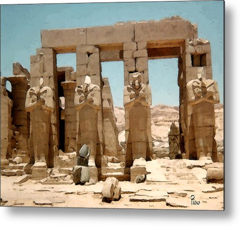 Art Metal Print featuring the photograph Ancient Egypt by Piero Lucia