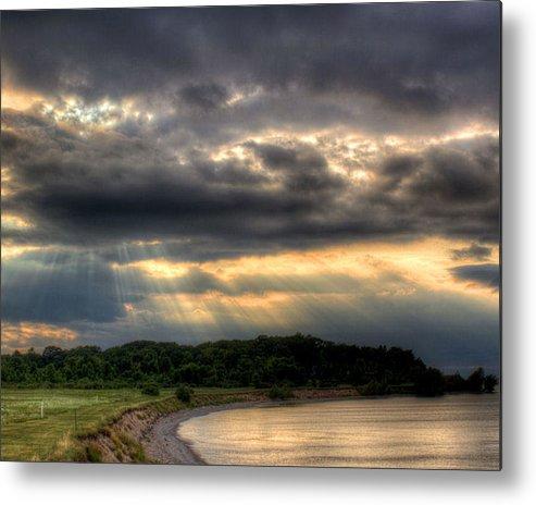 Lake Ontario Metal Print featuring the photograph Art For Crohn's Lake Ontario Sun Beams by Tim Buisman
