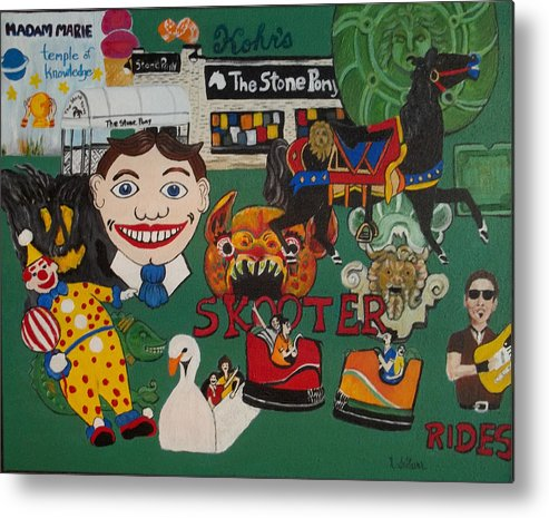 Asbury Park Metal Print featuring the painting Asbury Park Days Gone By by Norma Tolliver