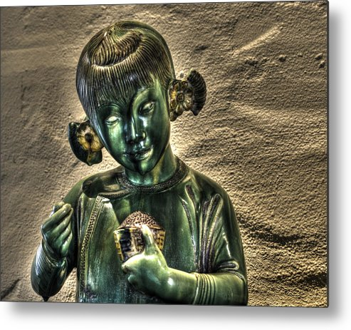 Asian Metal Print featuring the photograph Asian Girl by Diego Re