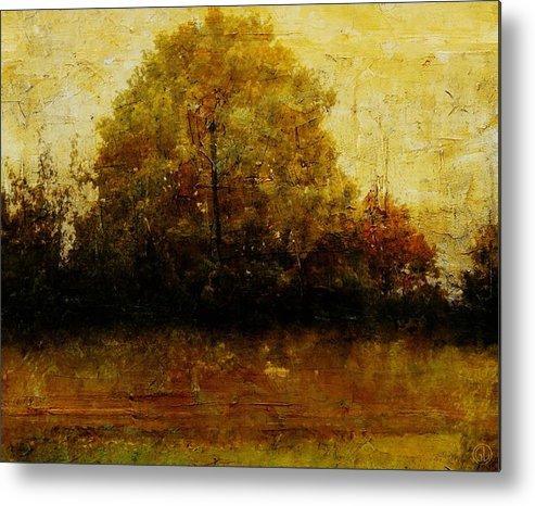 Landscape Metal Print featuring the digital art Autumn Wardrobe by Gun Legler
