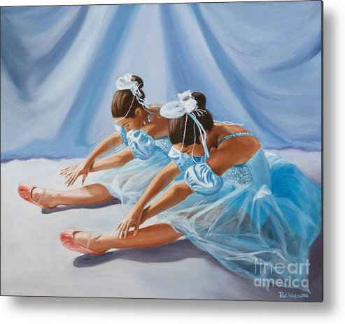 Ballet Dancers Metal Print featuring the painting Ballet Dancers by Paul Walsh