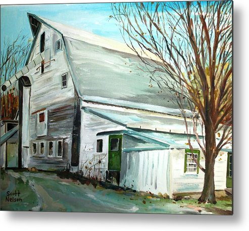 Millbury Ma Metal Print featuring the painting Better Days by Scott Nelson
