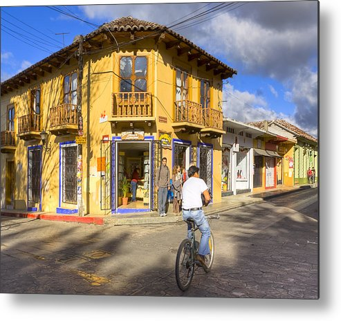 San Cristobal De Las Casas Metal Print featuring the photograph Bike Ride On A Beautiful Afternoon In Chiapas by Mark Tisdale