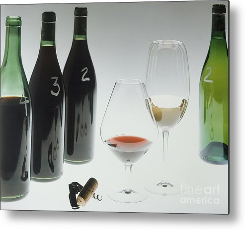Wine Metal Print featuring the photograph Blind Taste Test by Jerry McElroy