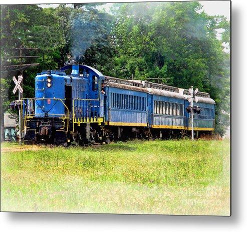Bluebird Train Metal Print featuring the photograph Bluebird Train by Jack Schultz
