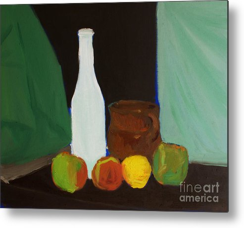 Food Metal Print featuring the painting Bodegon Ige by Isusko Goldaraz