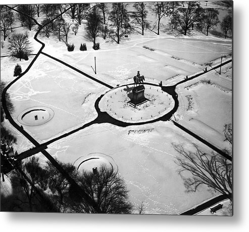 1930 Metal Print featuring the photograph Boston Public Gardens by Underwood Archives