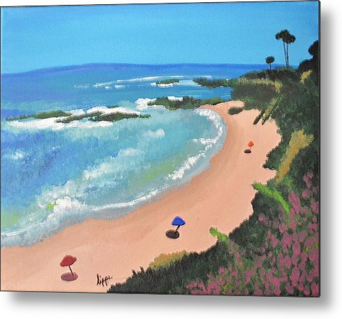 Beach Metal Print featuring the painting Cali by Hilary Pilzer