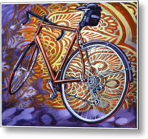 Bicycle Metal Print featuring the painting Cannondale by Mark Jones