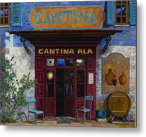 Cantina Metal Print featuring the painting cantina Ala by Guido Borelli