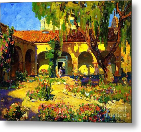 Pd Metal Print featuring the painting Capistrano by Pg Reproductions