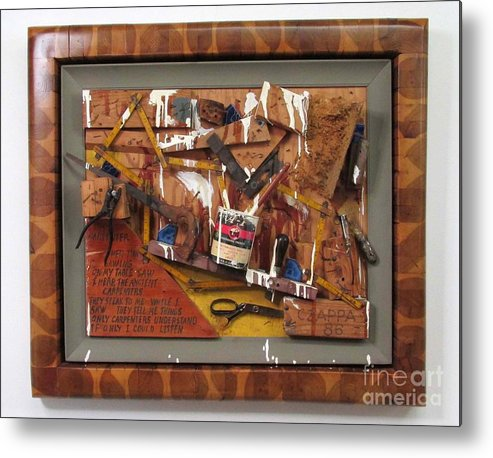 Czappa Metal Print featuring the relief Carpenters Lament #15 by Bill Czappa