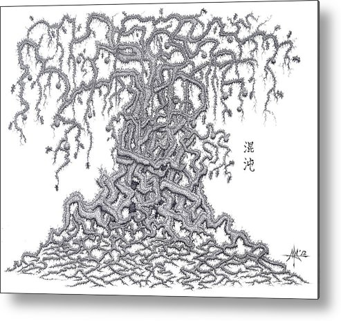 Chaos Metal Print featuring the drawing Chaos by Robert Fenwick May Jr