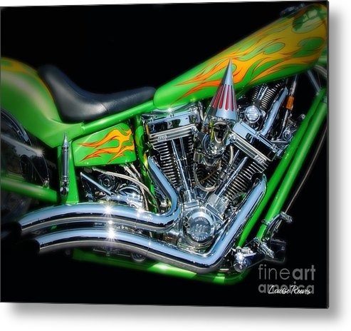 Motorcycle Metal Print featuring the photograph Chopped by Louise Reeves