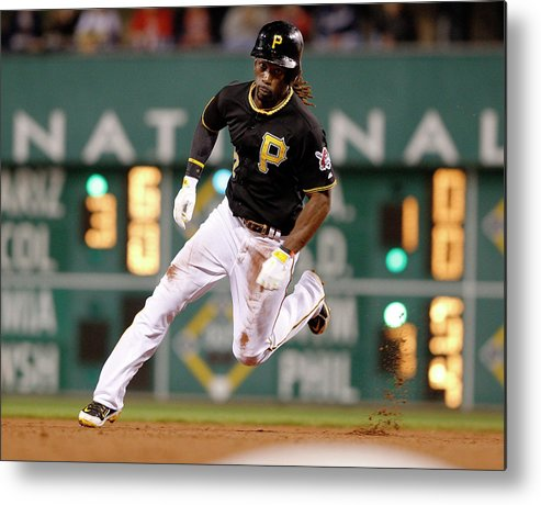 Pnc Park Metal Print featuring the photograph Cincinnati Reds V Pittsburgh Pirates by David Maxwell