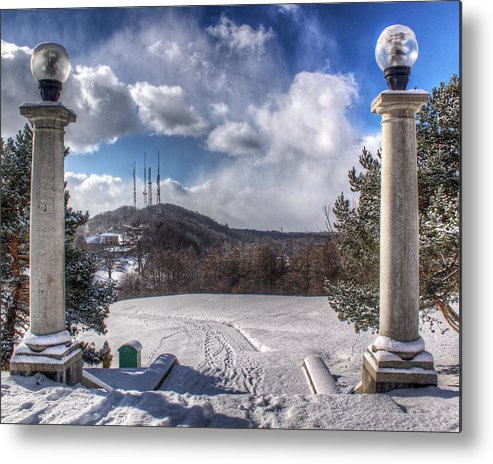 Winter Metal Print featuring the photograph Cobbs Hill Park In Winter by Tim Buisman