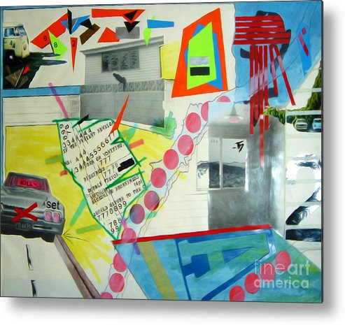 444 Metal Print featuring the drawing Collage 444 by Bruce Stanfield
