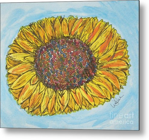 Sunflower Metal Print featuring the painting Color Me Sunshine by Marcia Weller-Wenbert