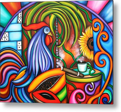Cuba Metal Print featuring the painting Colors Of My World by Annie Maxwell