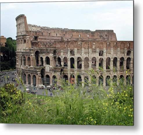 Rome Metal Print featuring the photograph Colosseum by Bryan Rasmussen