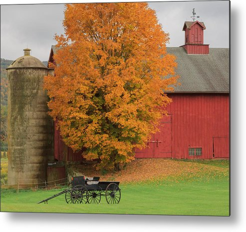 Bucolic Metal Print featuring the photograph Country Wagon by Bill Wakeley
