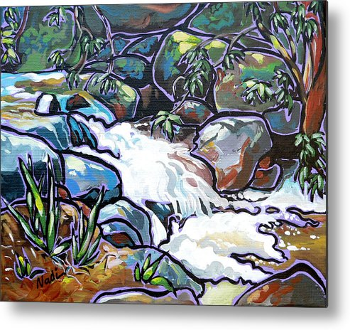 Creek Metal Print featuring the painting Creek by Nadi Spencer