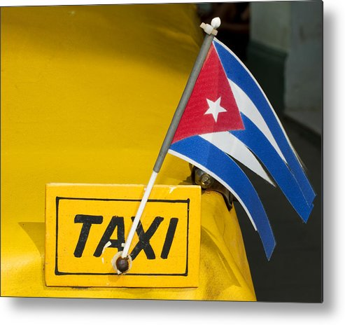Cuba Metal Print featuring the photograph Cuba Taxi by Norman Pogson