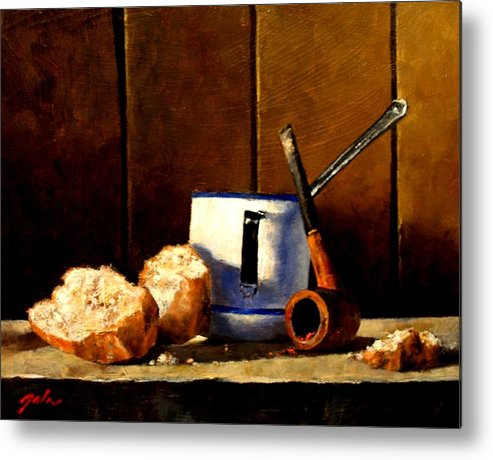 Still Life Metal Print featuring the painting Daily Bread Ver 1 by Jim Gola