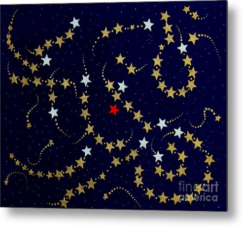 Barbara Griffin Metal Print featuring the painting Dare To Be Different - Stars - Blazing Trails by Barbara Griffin
