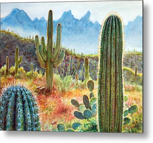 Tucson Metal Print featuring the painting Desert Beauty by Frank Robert Dixon