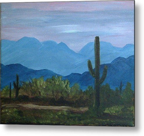 Desert Metal Print featuring the painting Desert Evening by Judi Pence