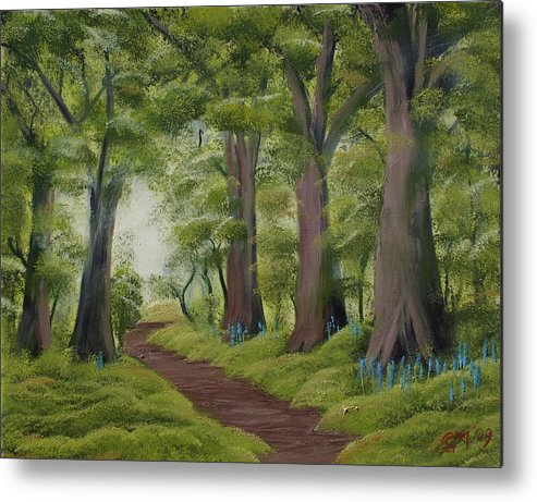 Painting Metal Print featuring the painting Duff House Walk by Charles and Melisa Morrison
