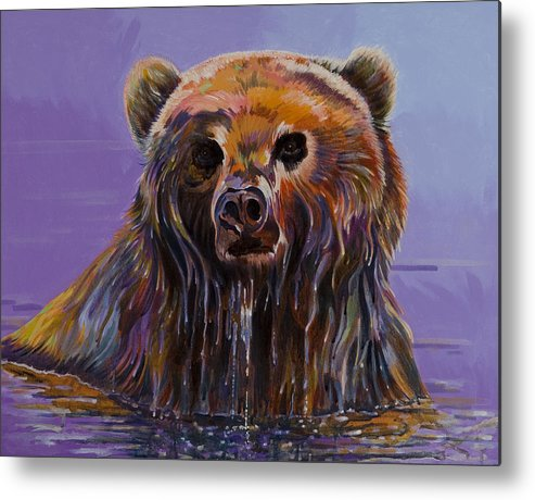 Wildlife Paintings Metal Print featuring the painting Embarrassed by Bob Coonts