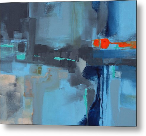 City Life Metal Print featuring the painting Erin II by Victoria Kloch