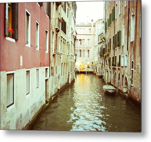 Venice Photograph Metal Print featuring the photograph Eventide by Lupen Grainne