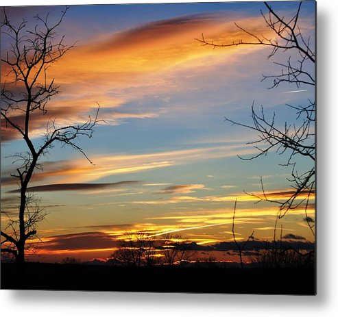 Sunset Metal Print featuring the photograph First Nikon Sunset by William Fox