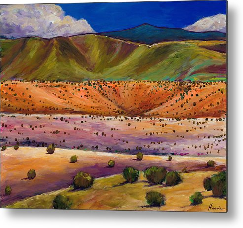 New Mexico Metal Print featuring the painting Foothill Approach by Johnathan Harris