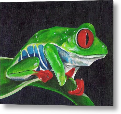 Frog Metal Print featuring the painting Forgotten Frog by Paul Smutylo